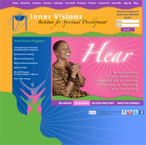 Website Design for Best Selling Author Iyanla Vanzant