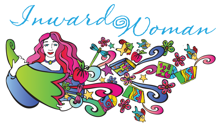 Soul Symbol and Logo Designed by Julia Stege for Jeanne Kouhestani and Inward Woman. The symbol represents the cornucopia of resources for the hungering spirit provided on the Inward Woman website.