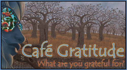 Cafe Gratitude Sign Design