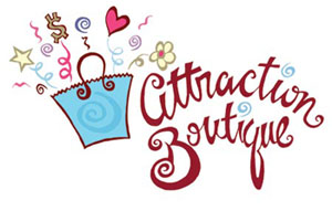 Attraction Boutique Logo Design and Illustration
