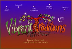 Vibrant Traditions Logo and Drupal Theme Design