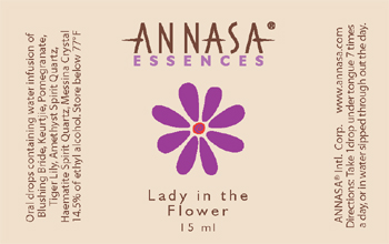Annasa Flower Essences Logo and Label Design