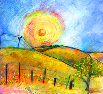 The Hills of Crockett Illustration by Julia Stege