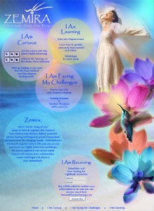Zemira Healing Website Home Page Design