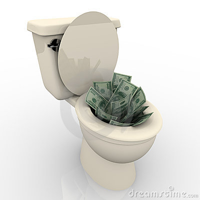 toilet-flush-moneyflushing-money-down-toilet-xqrcsdic