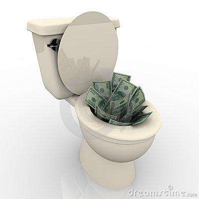 toilet-flush-moneyflushing-money-down-toilet-xqrcsdic