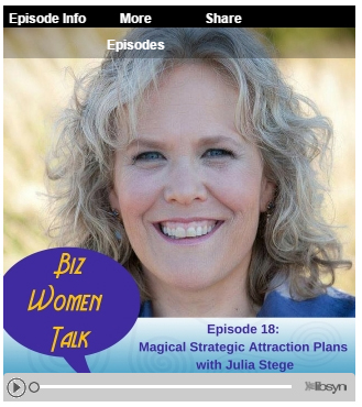 Biz Women Talk Podcast with Julia Stege, the Magical Marketer and Julie Foucht of Kick Ass Biz Coaching