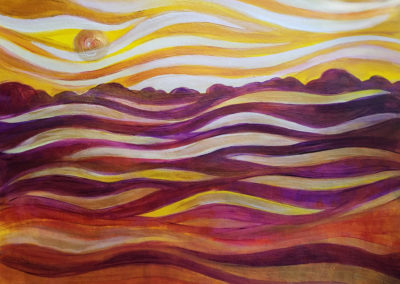 Fog Under Sunrise painting by Julia Stege