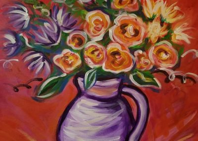 Spring is Here painting of flowers by Julia Stege