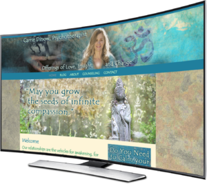 spiritual website design for Carrie Dinow